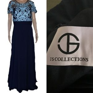 JS Embroidered Illusion Bodice Gown 12